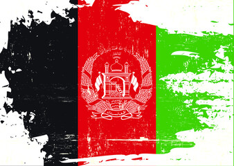 Afghan scratched Flag. A grunge flag of afghanistan for you
