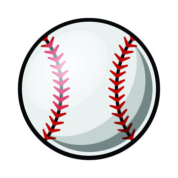 Baseball ball vector illustration isolated on white background. Ideal for logo design element, sticker, car decals and any kind of decoration.