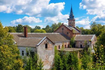 Old abandoned Catholic Church
