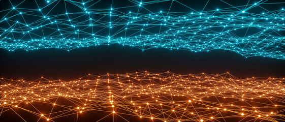 abstract network concept line connection (3d rendering)