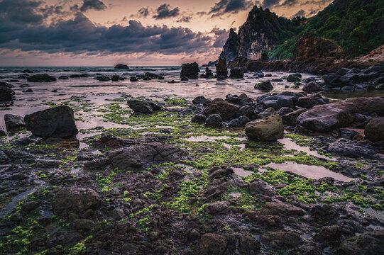 Watulumbung beach in Gunung Kidul, Yogyakarta, Indonesia