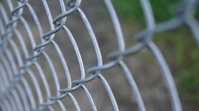Chain Link Fence closeup