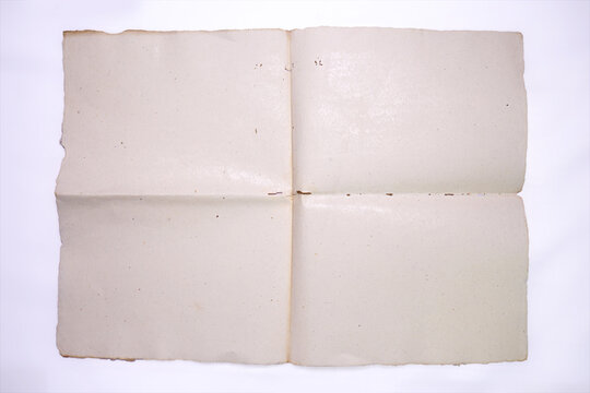 old blank paper on white background