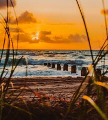 sunset on the beach florida tropical