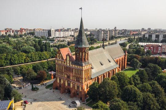 Aerial view of Konigsberg Cathedral
