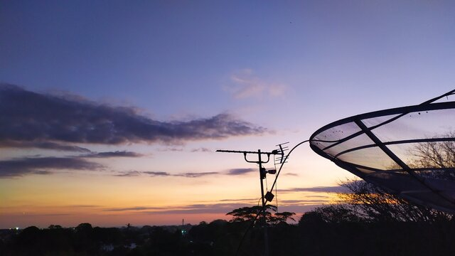 basketball hoop against the sky