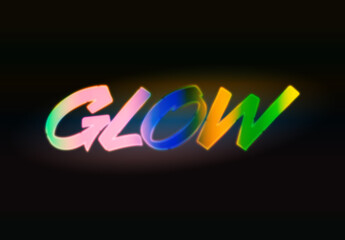 Colourful Glowing Text Effect