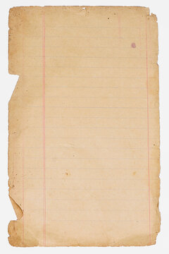 old sheet of paper