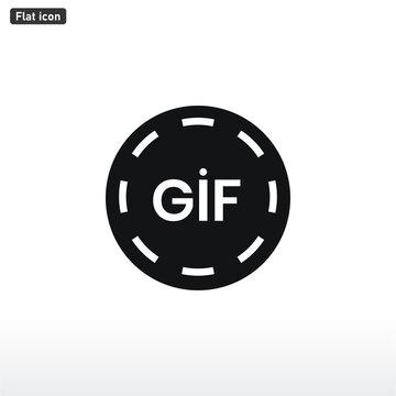 Gif icon vector . animation sign