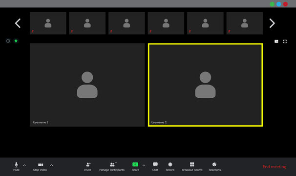 Video conference user interface, video conference calls window overlay