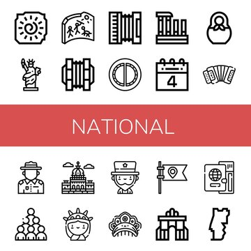national simple icons set