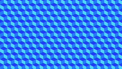 Infinite square pattern with super symmetrical blue coloring, stylized ladder. Material for website works, background, wallpapers. Abstract art. Widescreen size Fotobehang