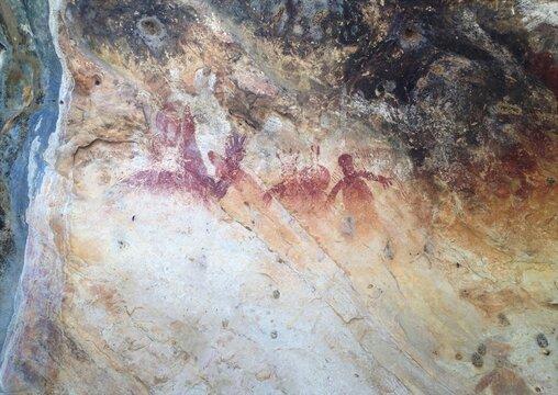 Indigenous cave art