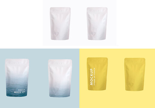 Stand Up Pouch Mockup Front and Back