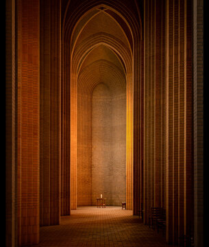 Copenhagen, Denmark: minimal interior of Grundtvigs church