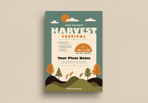 Harvest Festival Flyer Layout