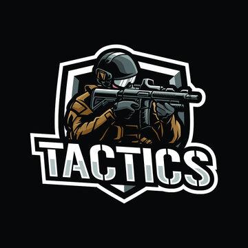 Army mascot logo design illustration
