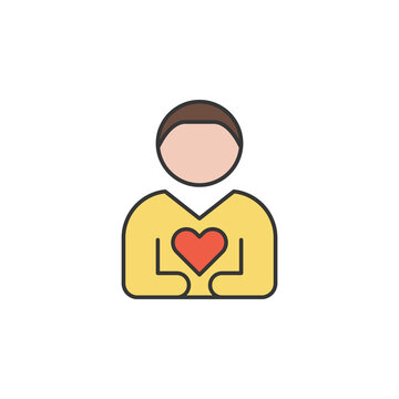 loyality friendship outline icon. Elements of friendship line icon. Signs, symbols and vectors can be used for web, logo, mobile app, UI, UX on white background