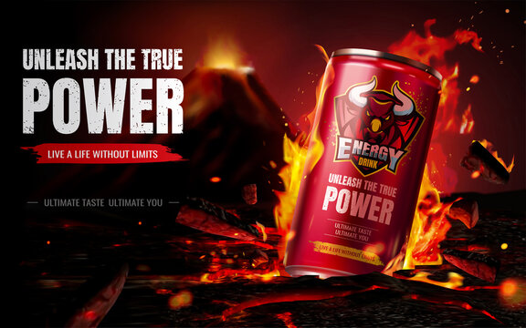 Energy drink ad composition