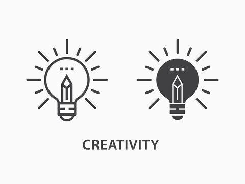 Creative icon on white background.