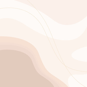 Abstract aesthetic backgrounds landscapes. Earth tones, pastel colors. Boho wall decor. Mid century modern minimalist.