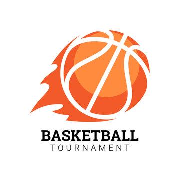 Basketball Tournament emblem. Illustration in flat style. Vector