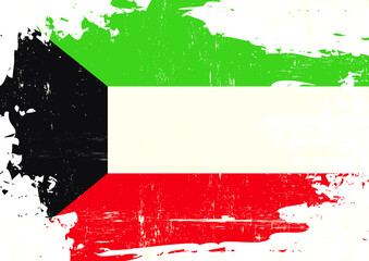 Kuwait scratched Flag. A grunge flag of Kuwait for you