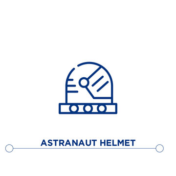 astranaut helmet outline vector icon. simple element illustration. astranaut helmet outline icon from editable astronomy concept. can be used for web and mobile