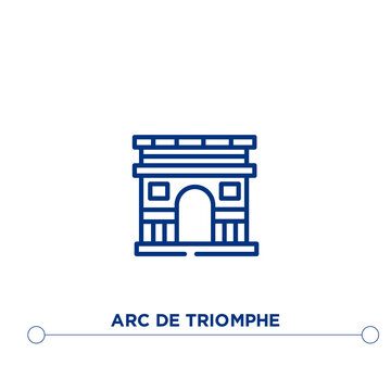arc de triomphe outline vector icon. simple element illustration. arc de triomphe outline icon from editable buildings concept. can be used for web and mobile