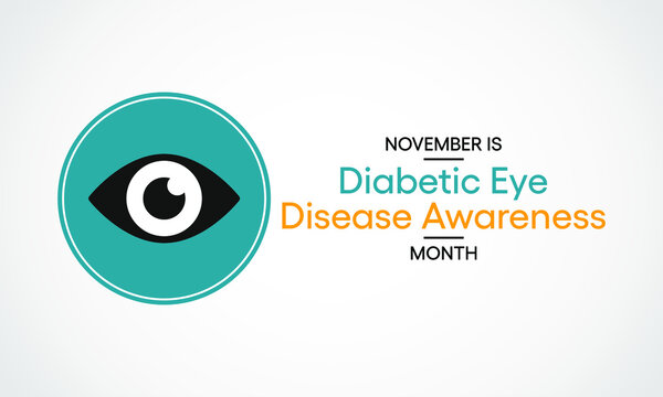 Vector illustration on the theme of Diabetic eye disease awareness month observed each year during November.