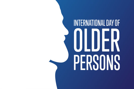 International Day of Older Persons. October 1. Holiday concept. Template for background, banner, card, poster with text inscription. Vector EPS10 illustration.