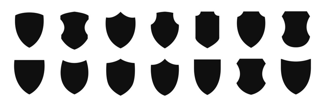 Shield icon vector set illustration