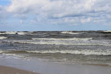 Lekko wzburzone morze