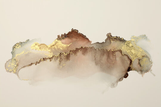 Art Abstract  watercolor flow blot painting. Color canvas marble texture background. Alcohol ink.