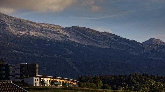 La station de Villard De Lans Corrençon  en Isère dans le Vercos, ayant accueilli le 15 septembre une arrivée d'étape du tour de france