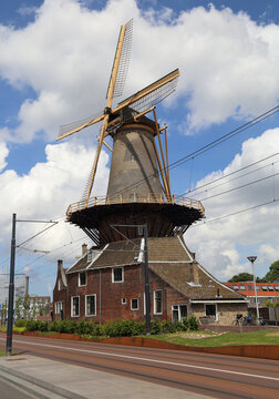 Windmill in Delft, Holland