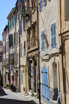 Traditional houses in Marseille, France