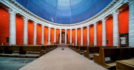 Catholic parish church St. Ludwig in Darmstadt, Germany - Katholische Pfarrkirche St. Ludwig