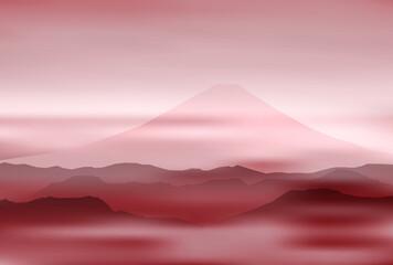 富士山 風景 年賀状 背景