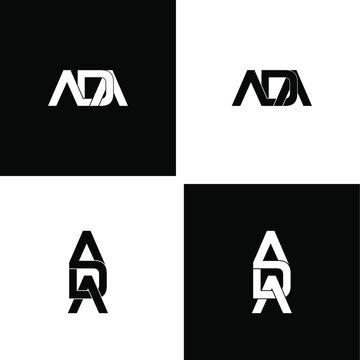 ada letter original monogram logo design