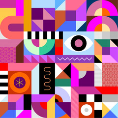 Photo sur Plexiglas Art abstrait Abstract Geometric Seamless Design