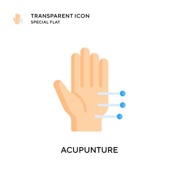 Acupunture vector icon. Flat style illustration. EPS 10 vector.
