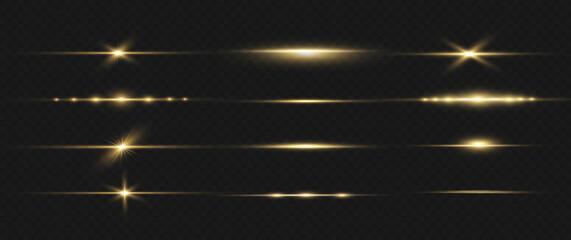 Fototapeta Yellow horizontal line. obraz
