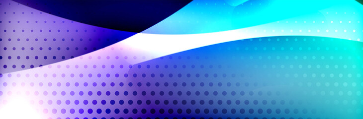 Fluid gradient neon color waves, vector abstract background
