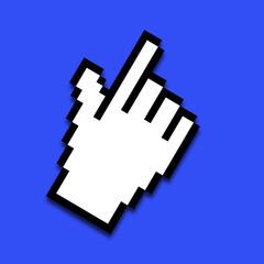 Mauszeiger, Hand mit Zeigefinger als Illustration