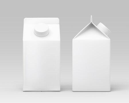 white milk carton box