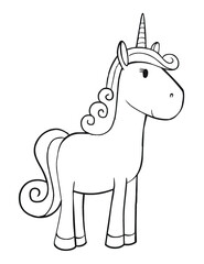 Cute Unicorn Vector Illustration Art