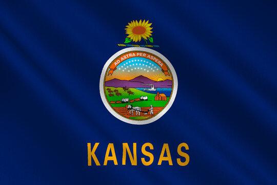 Flag of Kansas, USA