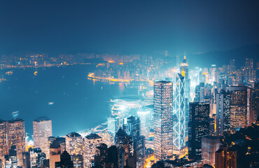 Fotomurales - Hong kong from the Victoria peak