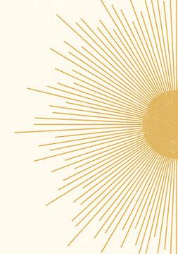 Abstract  Sun print boho minimalist printable wall art